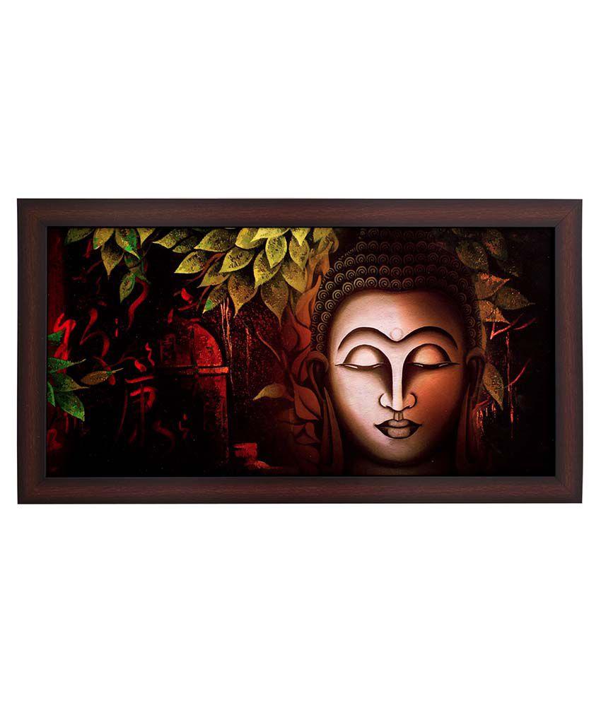 BM Traders Buddha Wooden Photo Frame