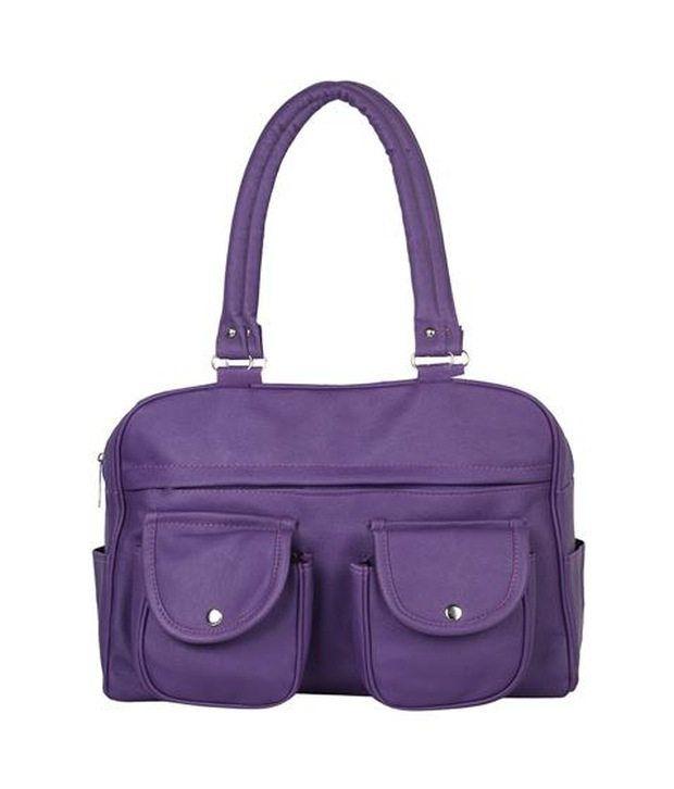 Gracetop Purple P.U. Shoulder Bag