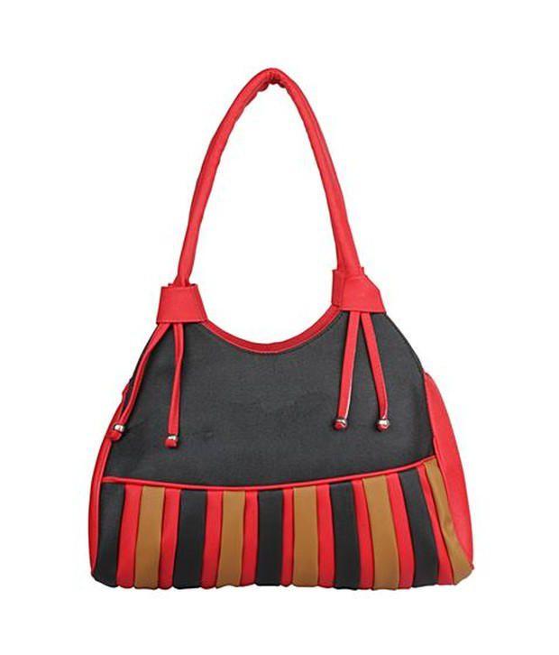 Gracetop Red P.U. Shoulder Bag
