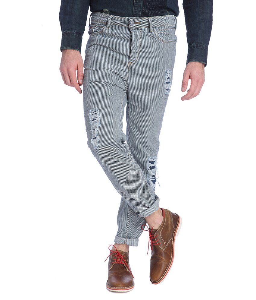 Jack & Jones Grey Slim Fit Casual Trousers
