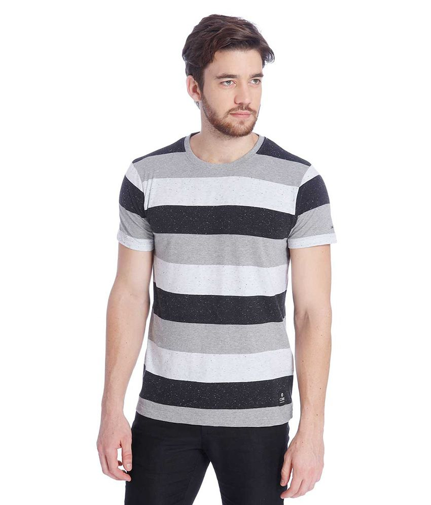 Jack & Jones Multi Colour Half Sleeves T-Shirt
