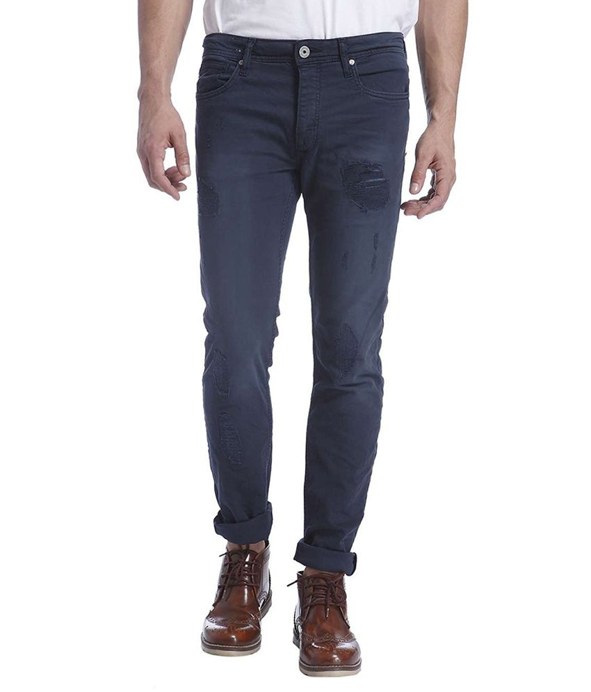Jack & Jones Navy Slim Fit Jeans