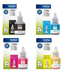 Brother Ink Consumables Bt5000 Pack Of 4 (For Use In Dcp-T300/Dcp-T500W)