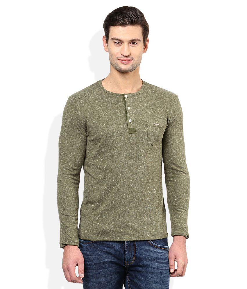 a248912b788 Being Human Green Henley Neck Full Sleeves T-Shirt - Buy Being Human Green  Henley Neck Full Sleeves T-Shirt Online at Low Price - Snapdeal.com
