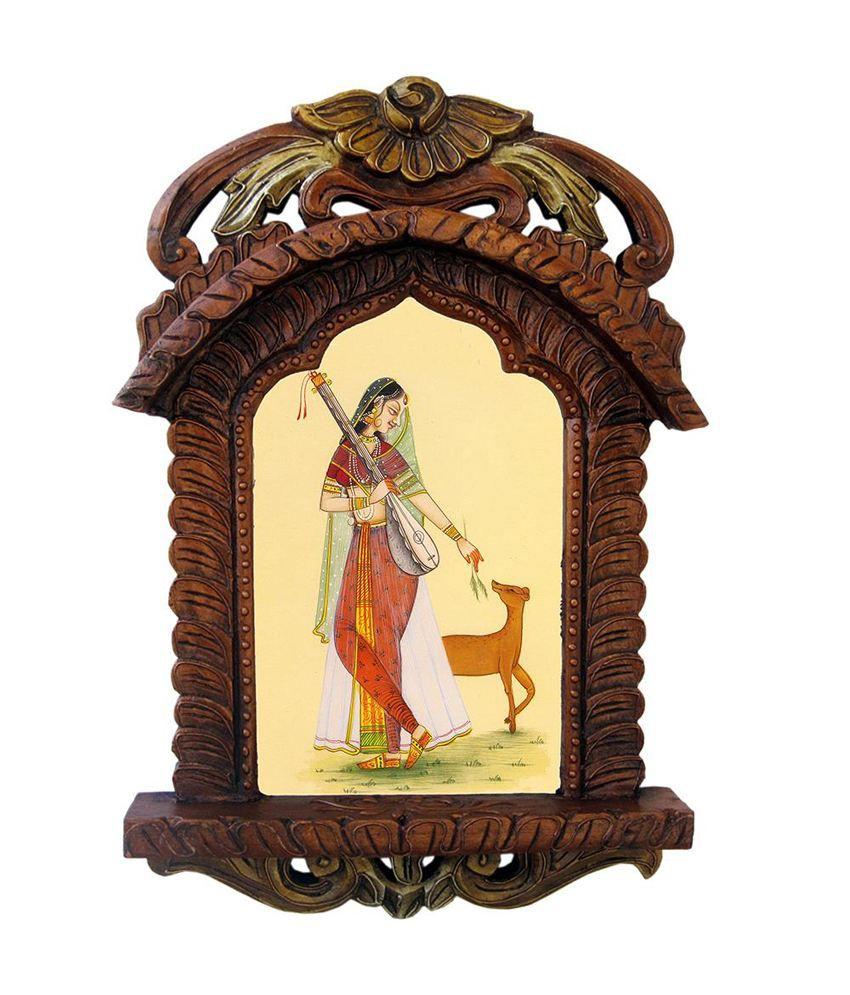 Kiran Udyog Brown Wooden Jharokha Landscape Painting