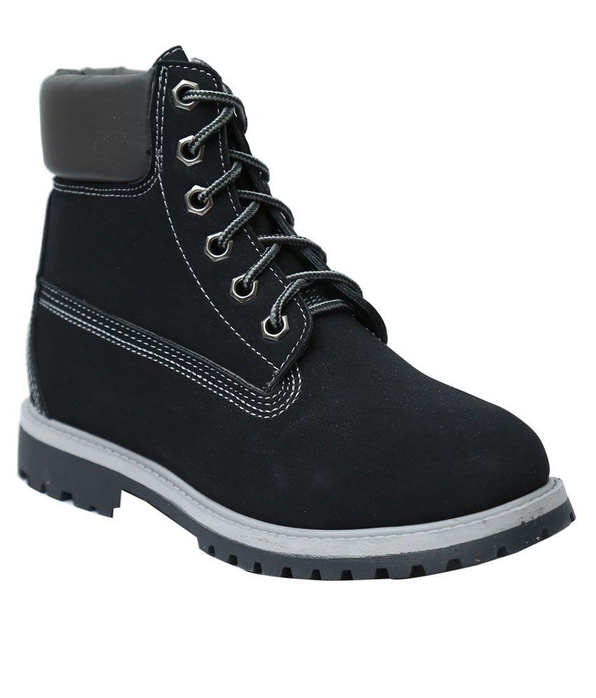 Season Footwear Black Flat Boots