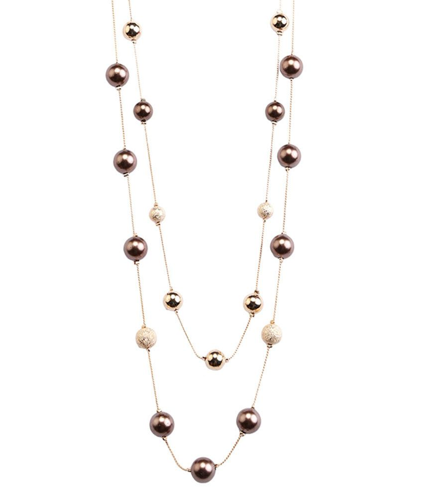 Tipsyfly Brown Alloy Beads Chain