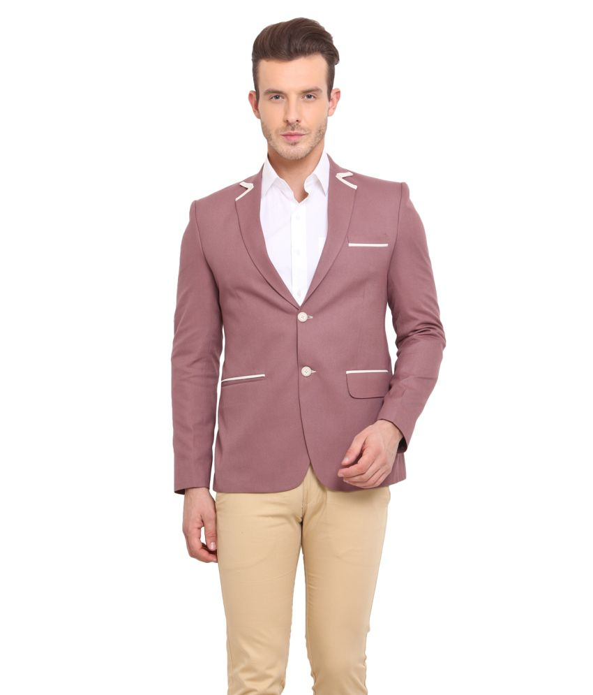 Ennoble Peach Casual Blazer