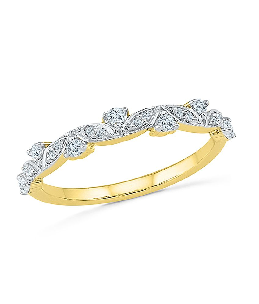 Radiant Bay 14kt Gold Daimond Ring