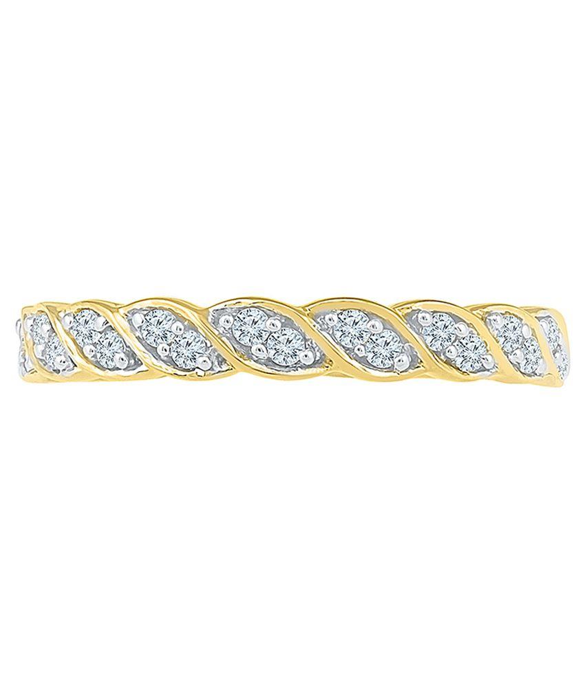 Radiant Bay 18kt Gold Diamond Studded Ring