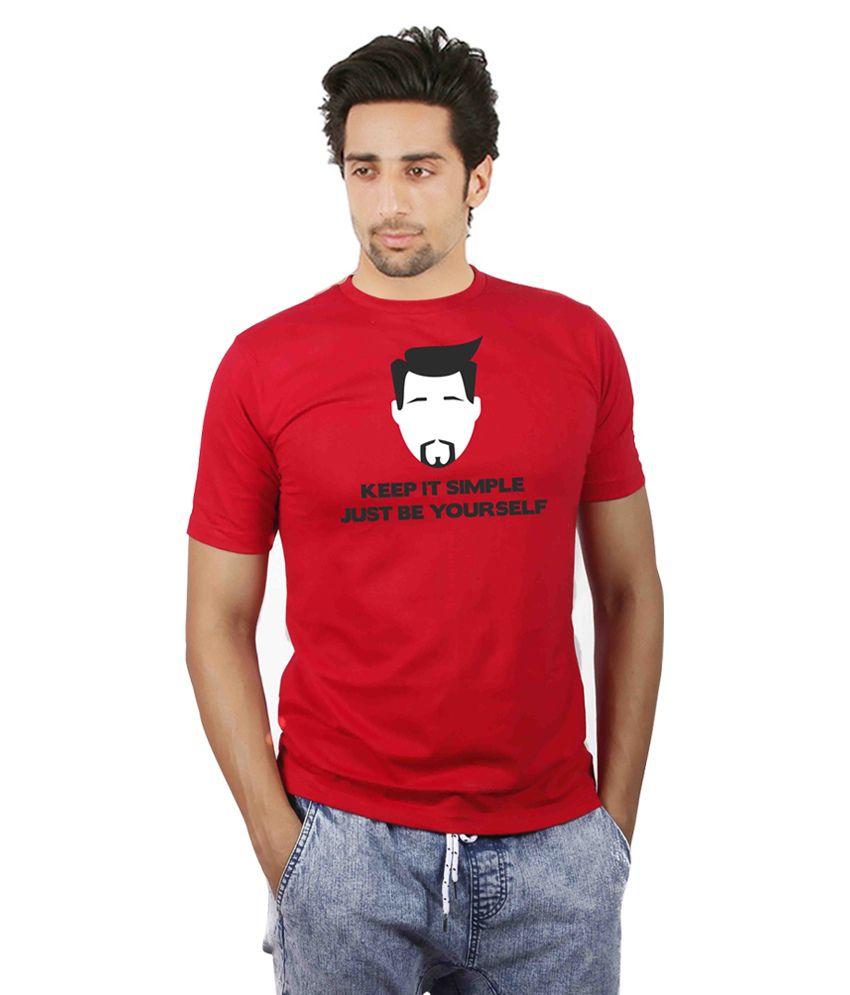 Booganz Red Cotton Blend T- Shirt