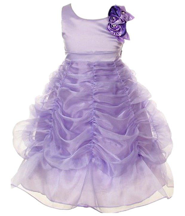 4ea34c1de33f Pink Wings Light Purple Party Wear Gown - Buy Pink Wings Light Purple Party  Wear Gown Online at Low Price - Snapdeal