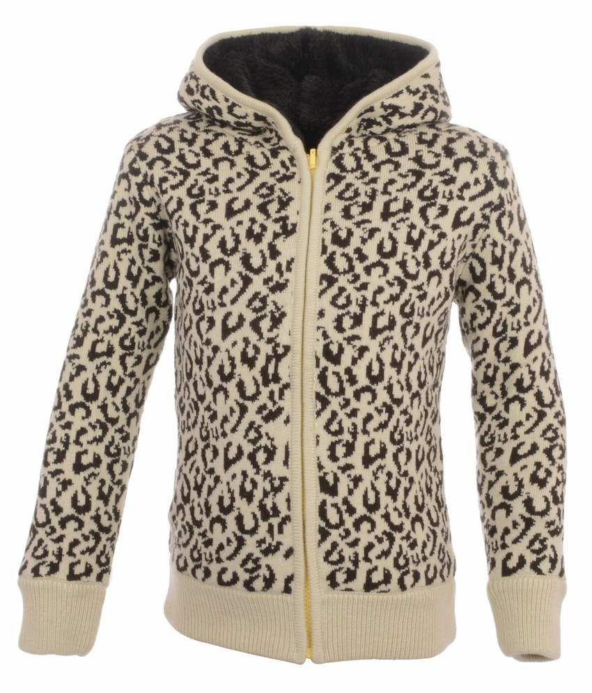 Yellow Apple Beige Acrylic Full Sleeves Jacket With Hood
