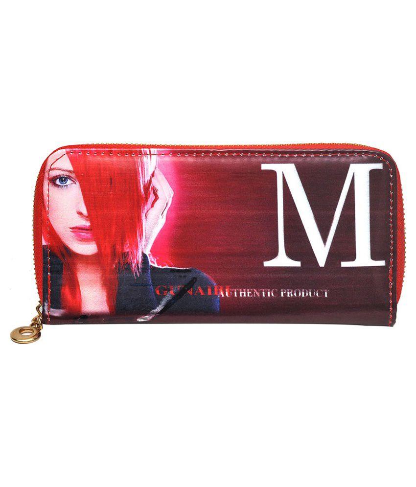 Hawai Medium Red PU Wallet For Women