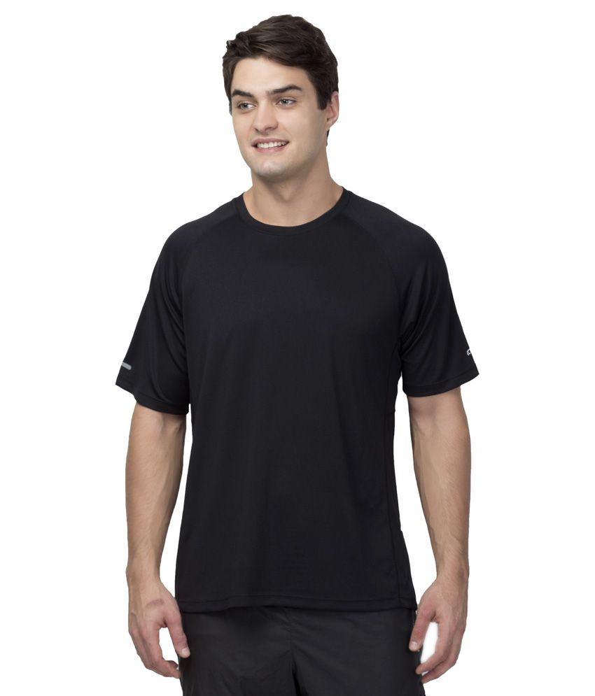 Octive Black Polyester Sports T Shirt