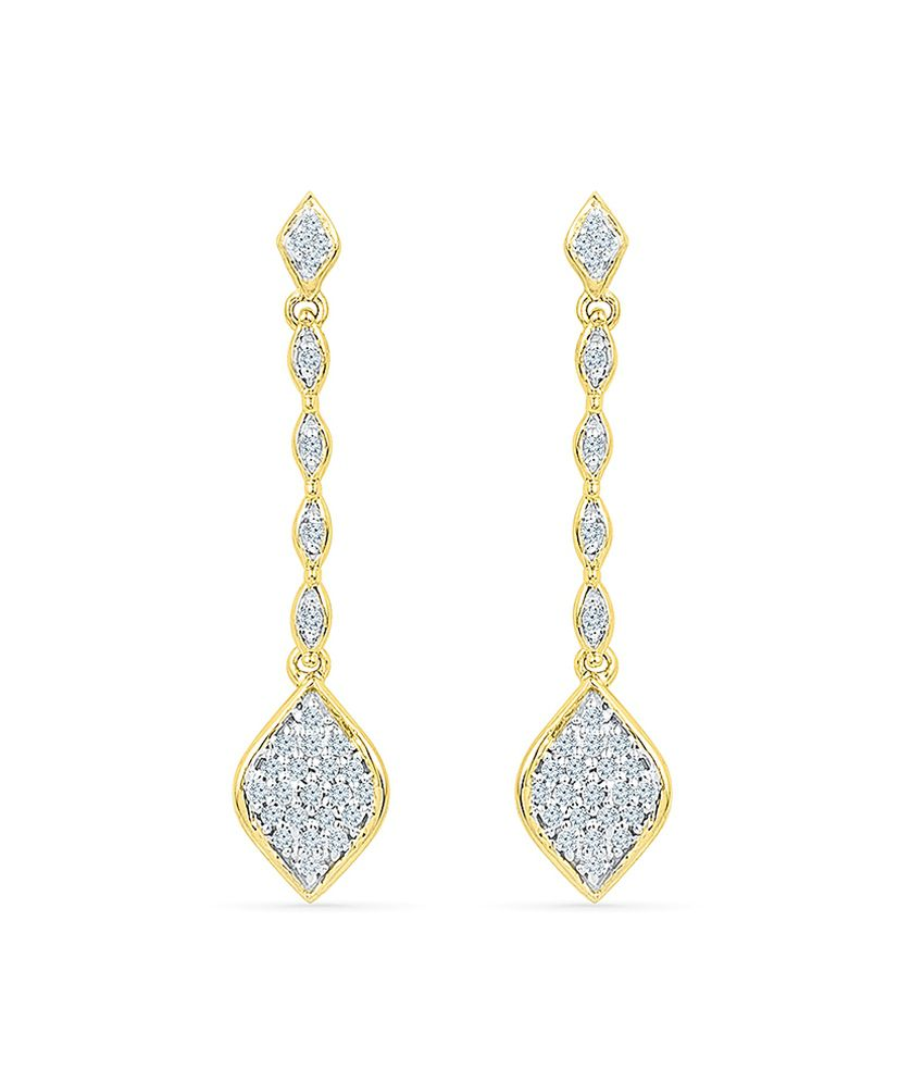 Radiant Bay 14kt Gold Diamond Danglers