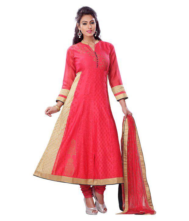 Payal Pink Silk Stitched Suit