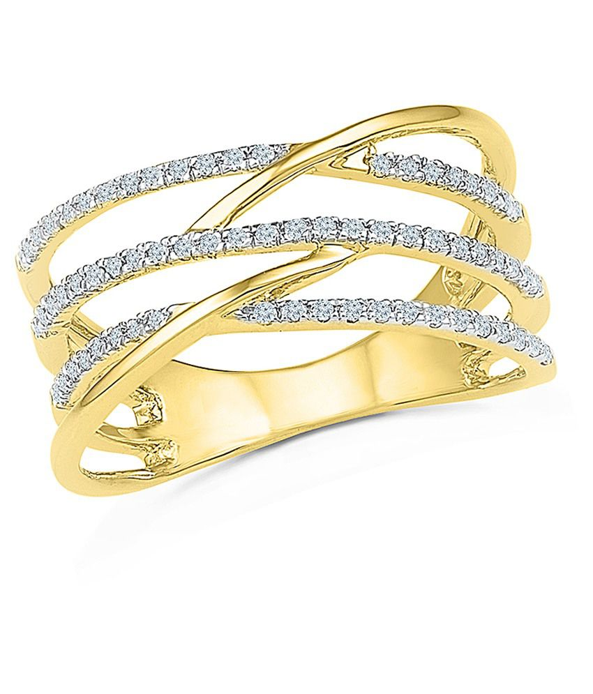 Radiant Bay Yellow Gold 14Kt Ring
