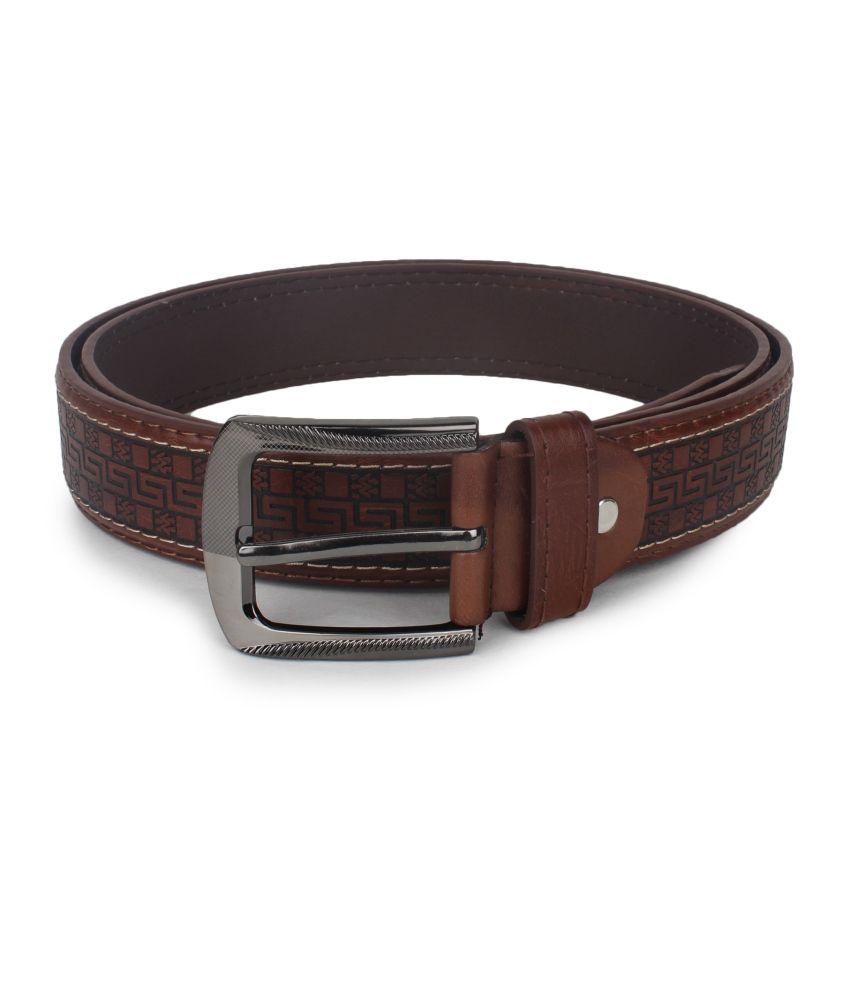 Omnesta Brown Casual Belt For Men