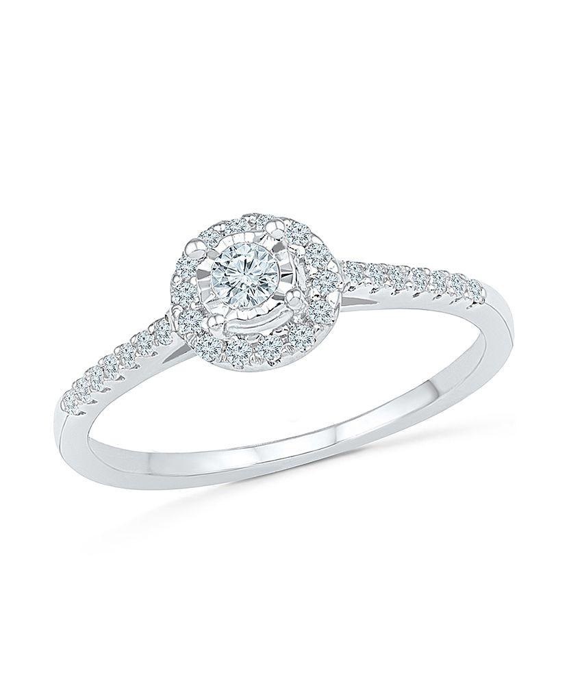 Radiant Bay 18Kt White Gold Diamond Ring