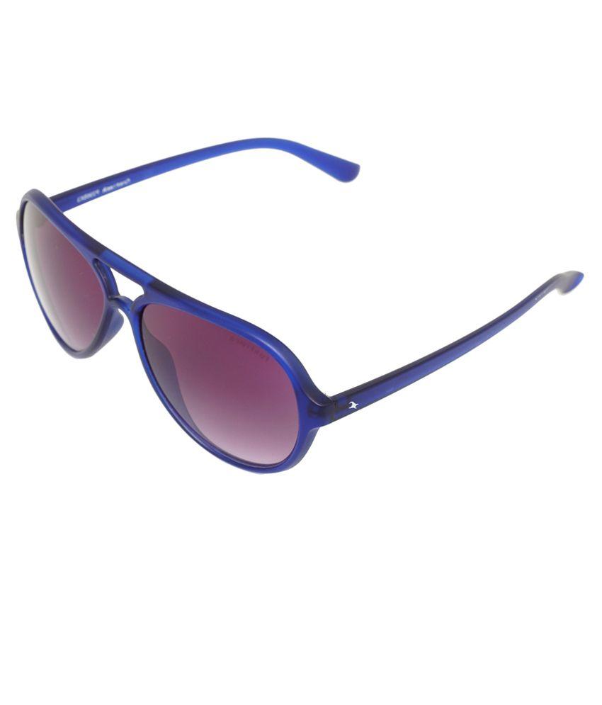 Fastrack P296BK3 Blue Aviator Sunglasses