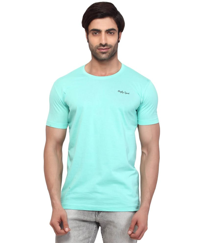 Rugby Blue Cotton T Shirt