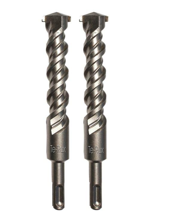 Te-Rux SDSP24460-2 SDS Plus Hammer Drill Bit (24 x 460, Set Of 2)