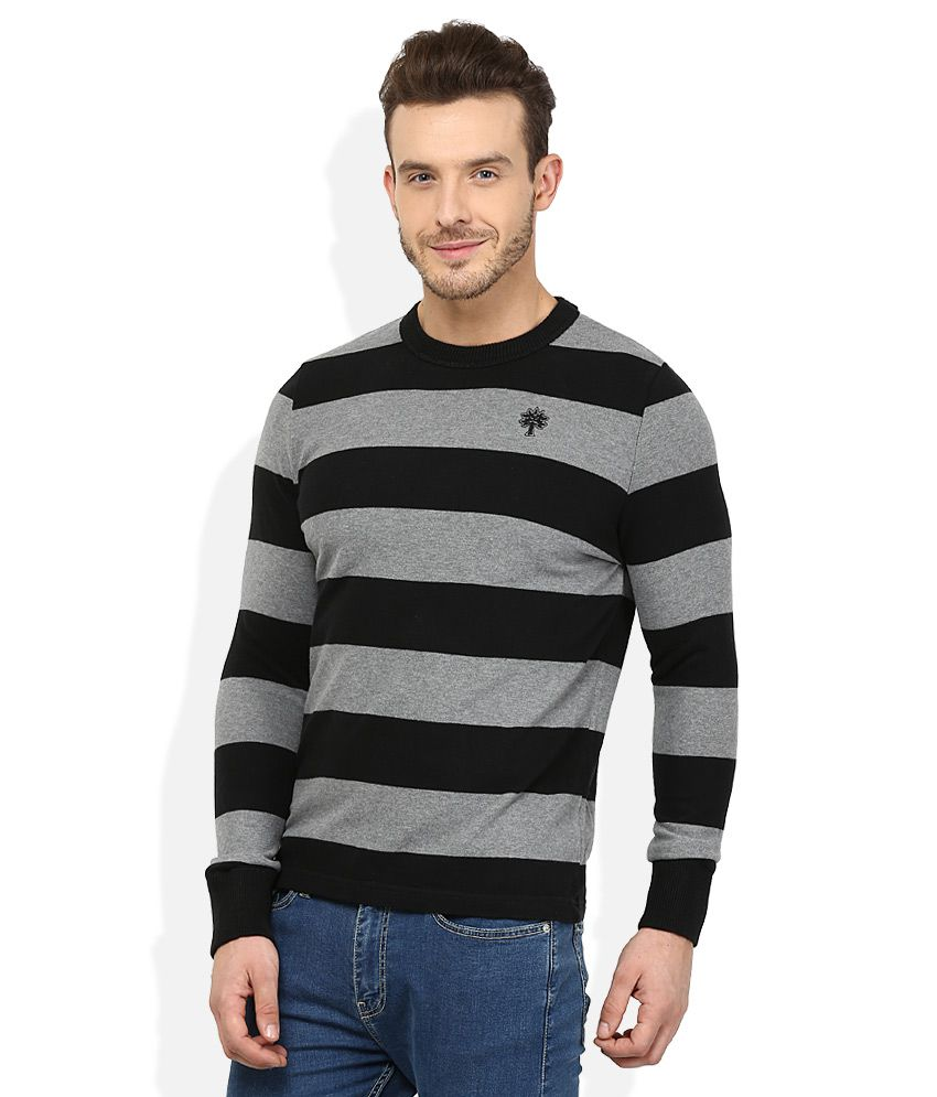 Black t shirt low price -  Woodland Black Round Neck T Shirt