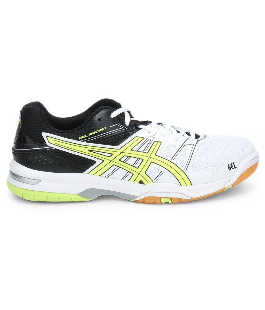 17e21dd99c92c Asics Gel Rocket 7 White Sport Shoes - Buy Asics Gel Rocket 7 White ...