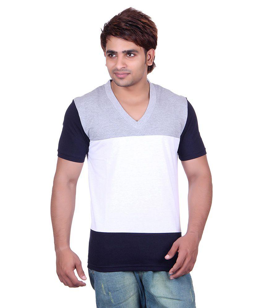 Vivid Bharti Multi V-Neck T-Shirt