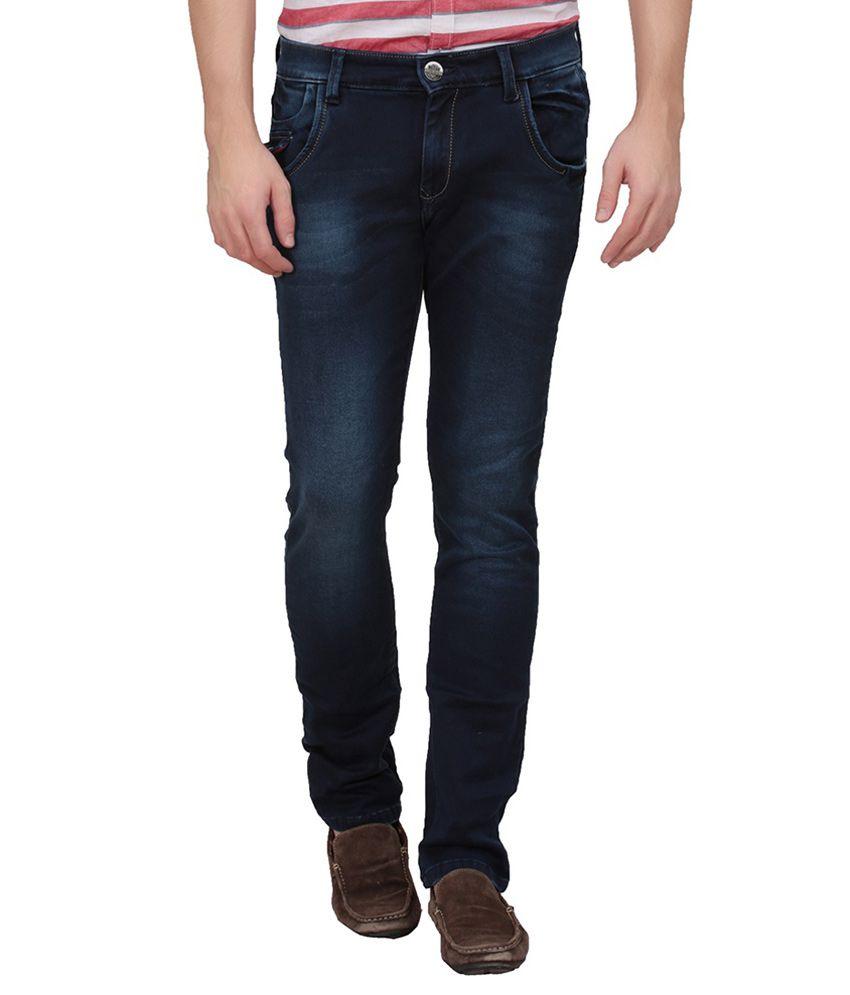 Volume Zero Blue Slim Fit Jeans
