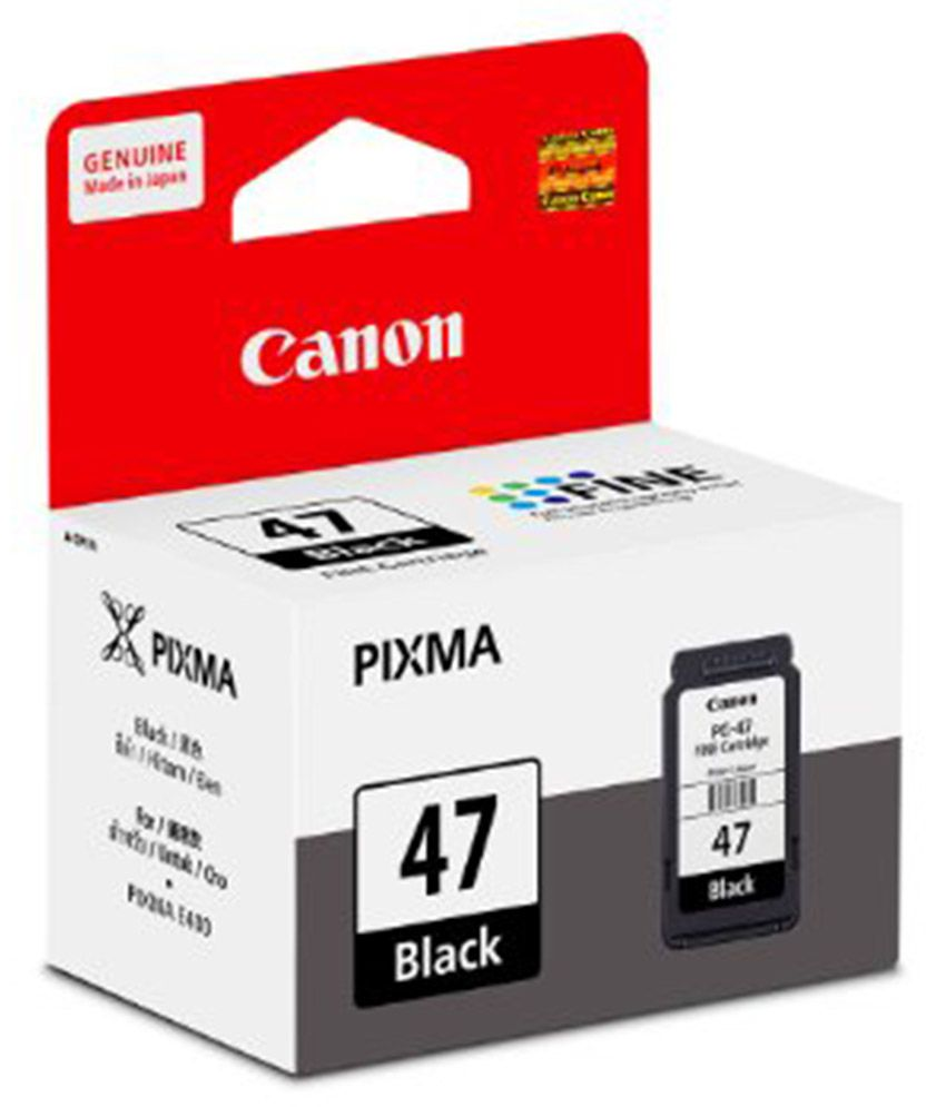 Canon PG-47 Black Cartridge For Canon E400, E460 And E480 - 12 ml