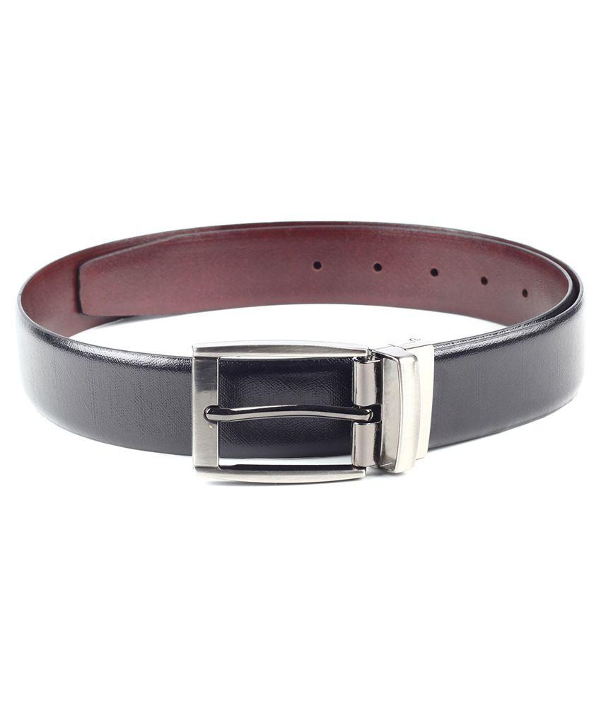 Chisel Black Leather Belt For Men