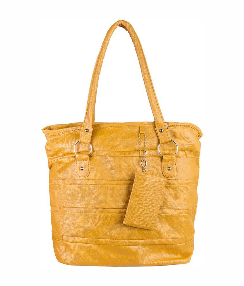 Louise Belgium Yellow Designer Women's Handbag