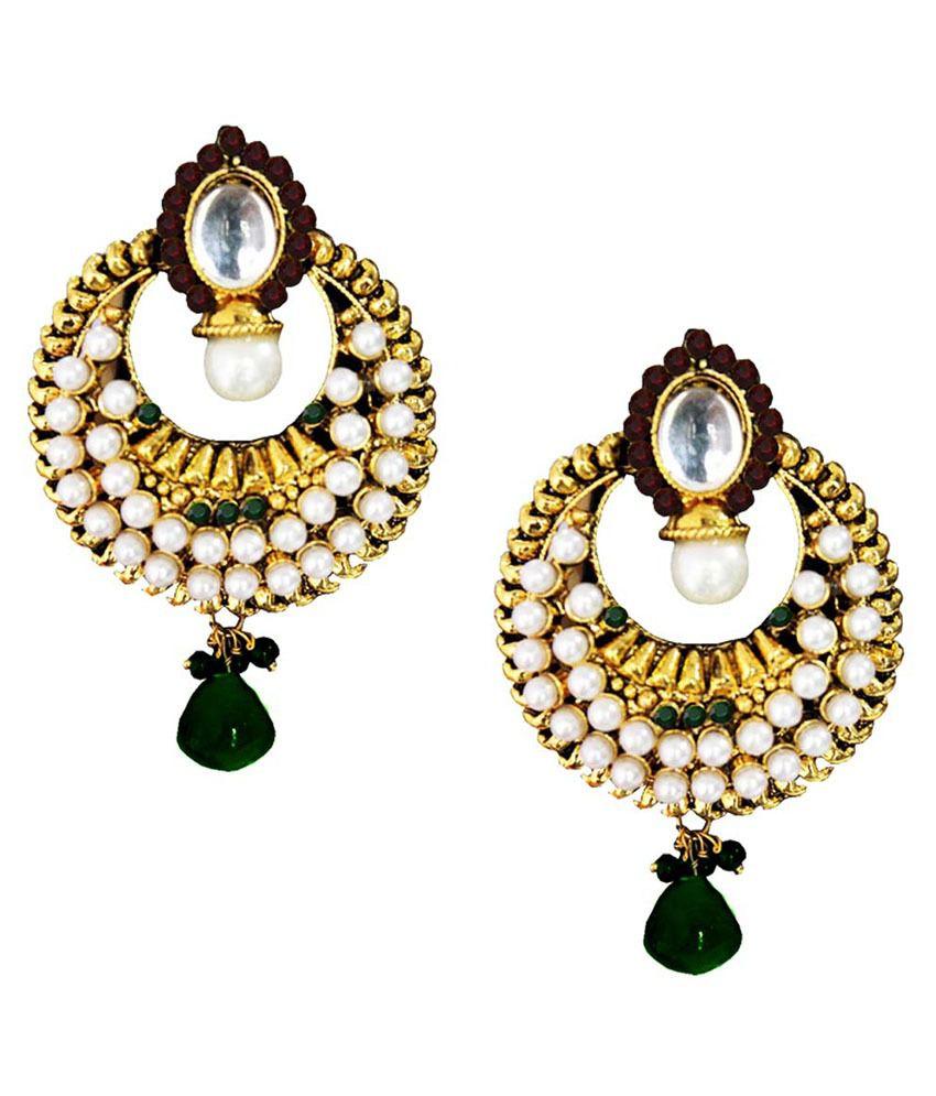 Pihu  Multicolour  Deepika padukone Inspired Gold Plated Pearl Fashion  Drop Earring