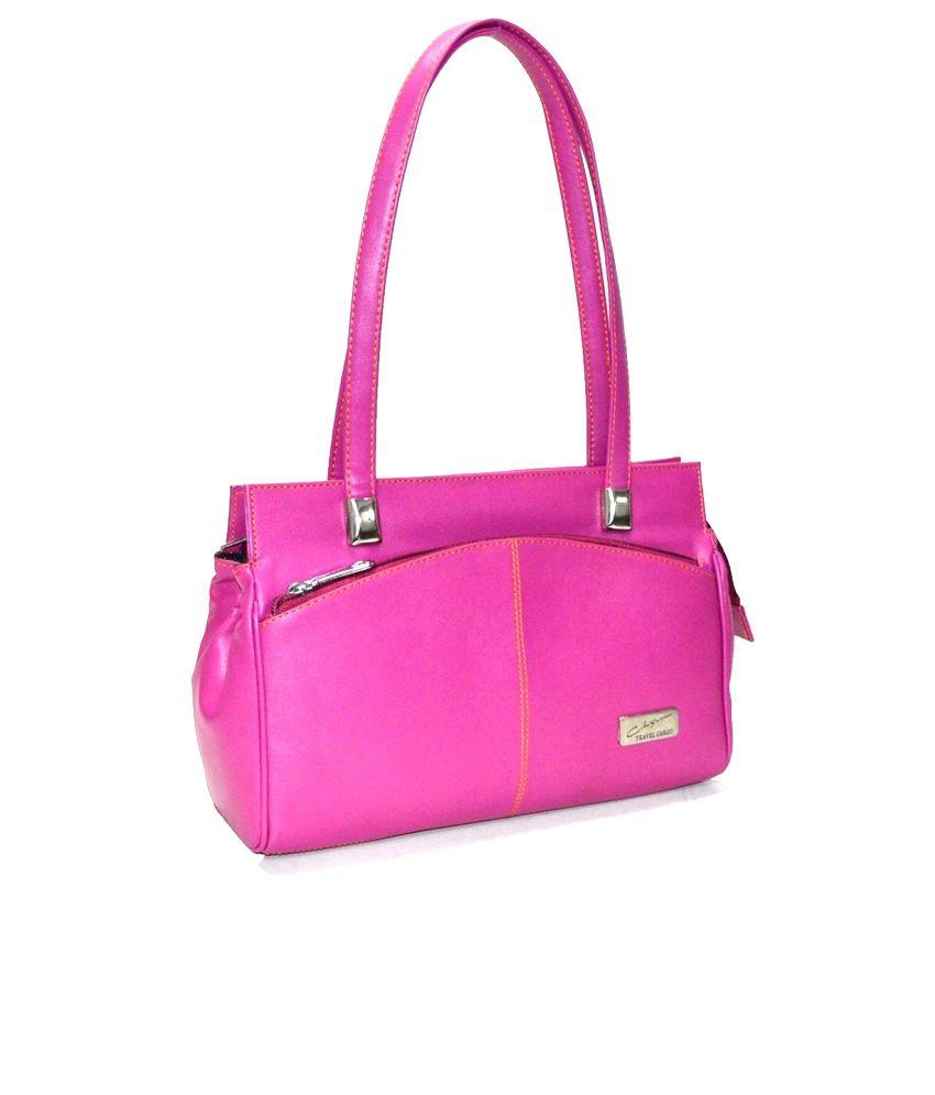 Utsukushii Pink PU Shoulder Bag