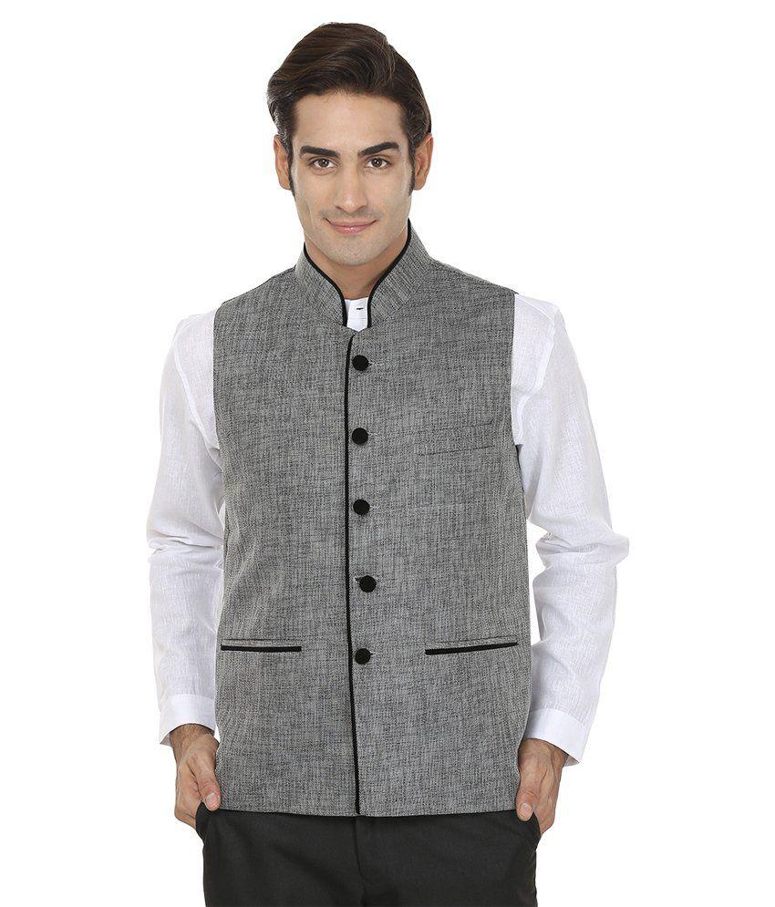 Wintage Grey Rayon Waistcoat