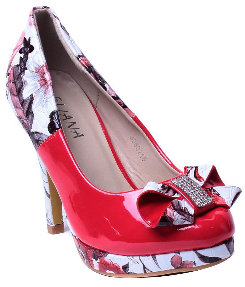 Eliana Sophisticated Red Heeled Pumps