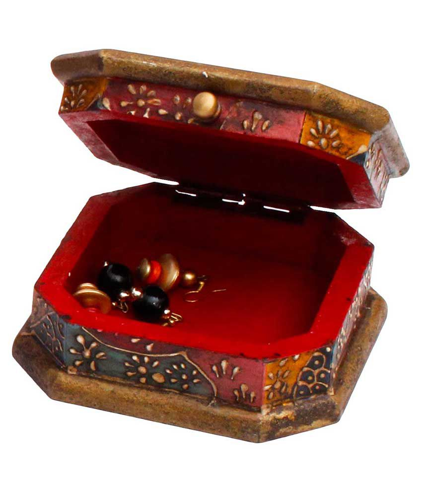 Jaipur Raga Unique Wooden Jewellry Cosmastic Handicraft Box