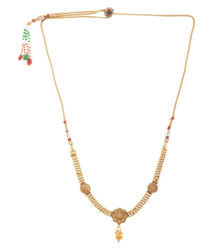 Trishul Golden Alloy Necklace Set