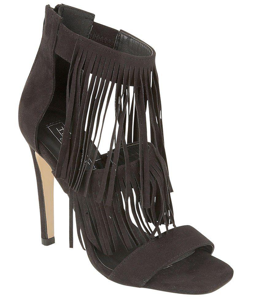 Truffle Collection Black Stiletto Sandals