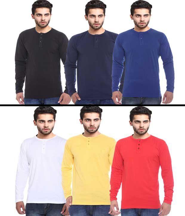 X-cross Full Sleeve T-shirt For Men's- Pack Of 6