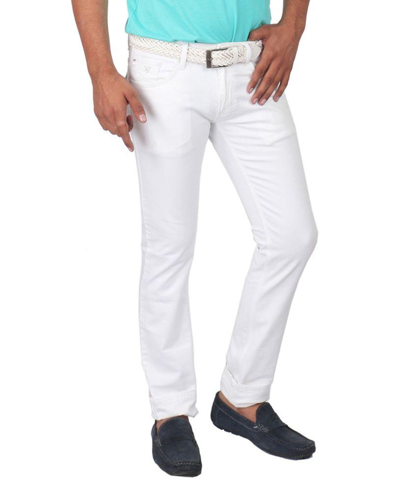 Golden Cloud White Regular Fit Jeans