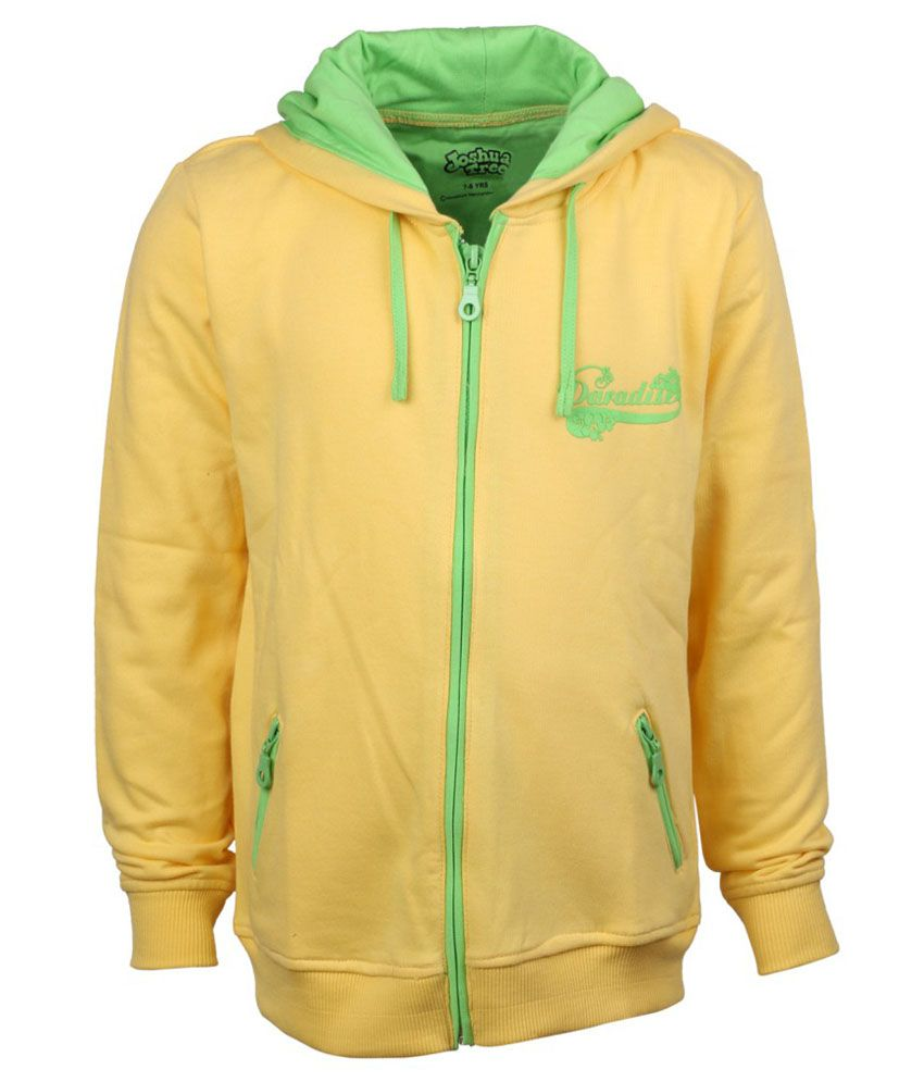 Joshua Tree Yellow Cotton Sweatshirt