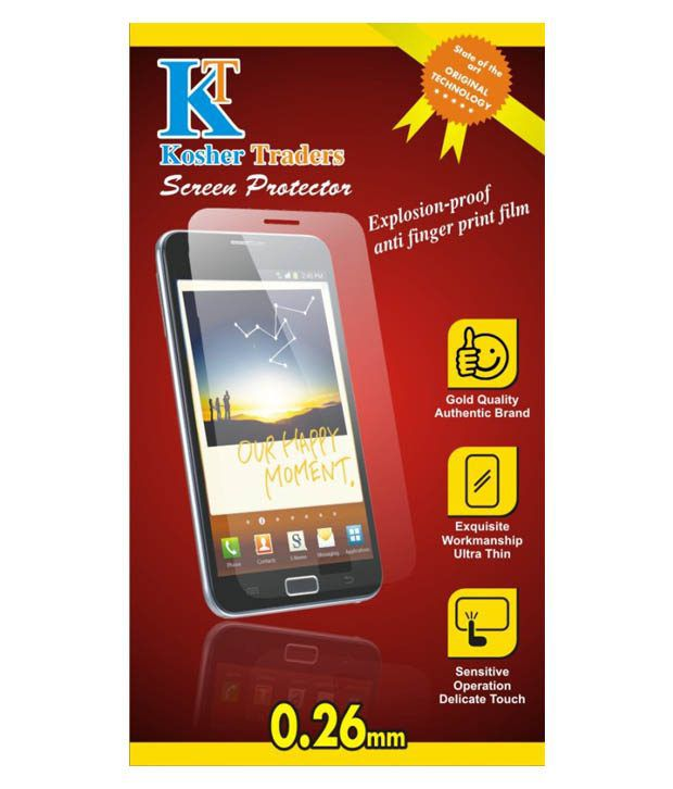Lenovo Vibe P1 (Pack of Three) Matte Screen Guard by Kosher Traders
