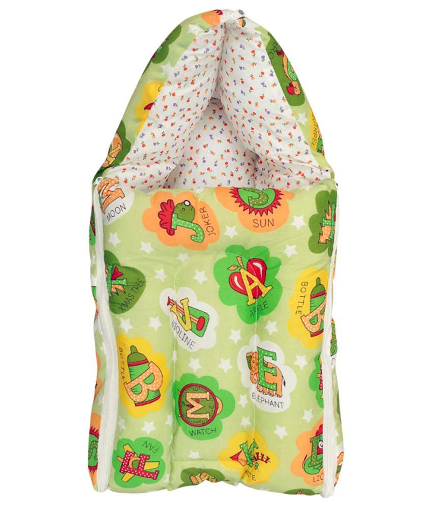 Orange And Orchid Green Cotton Sleeping Bag