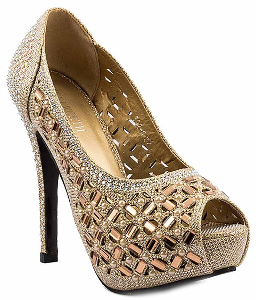 6d0fa8a56f1a Wellworth Golden Pumps Price in India- Buy Wellworth Golden Pumps Online at  Snapdeal