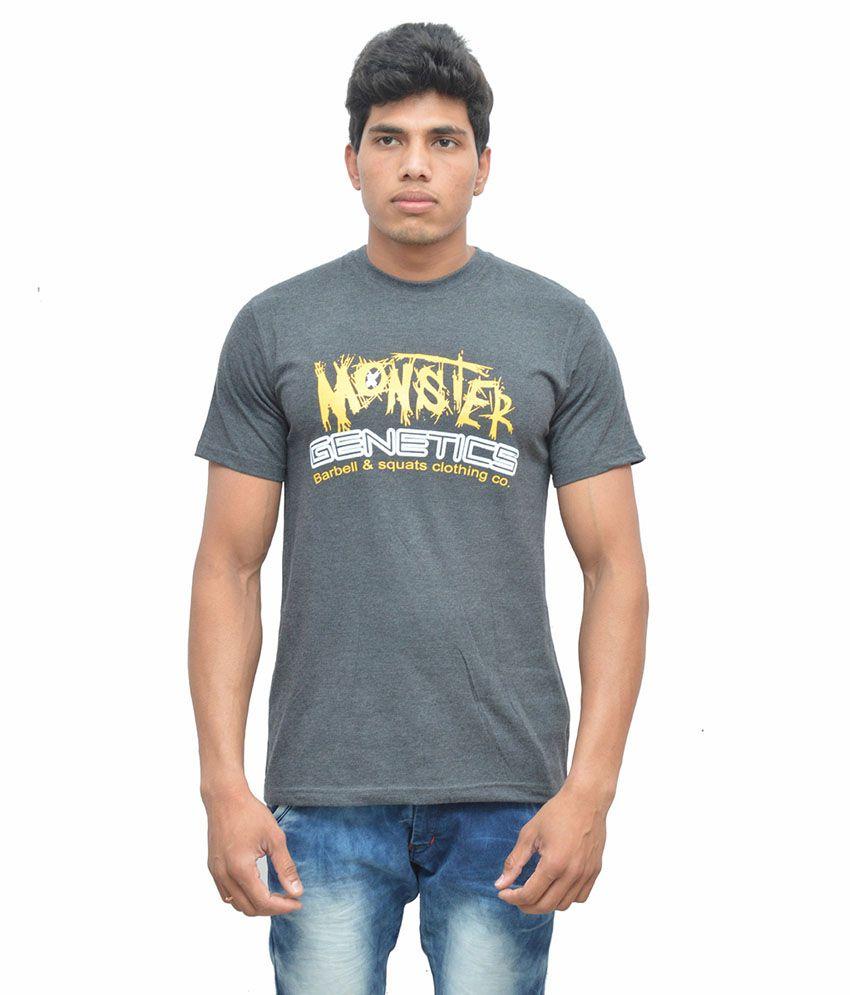 Barbell & Squats Grey Cotton T-Shirt