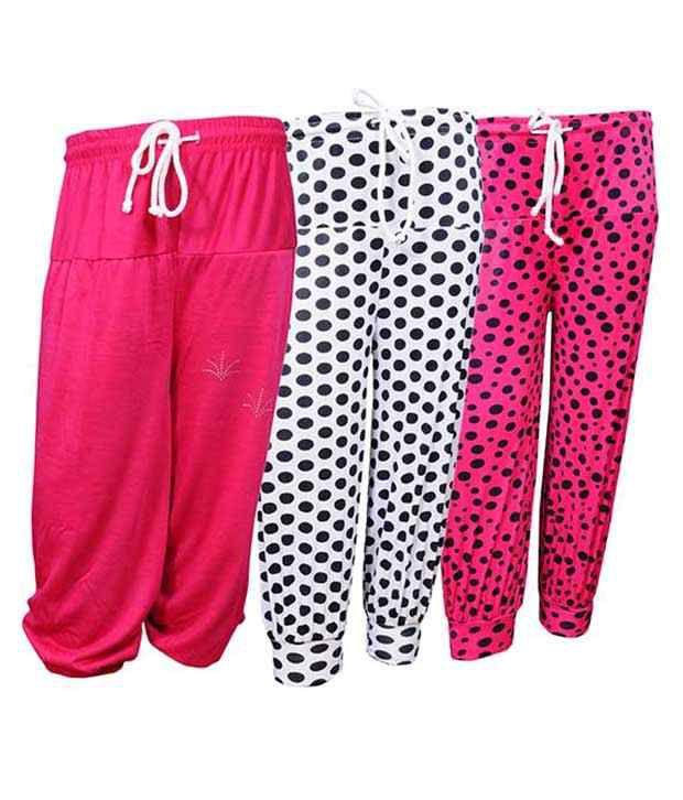 Bodymate Multicolor Capri For Girls - Pack Of 3