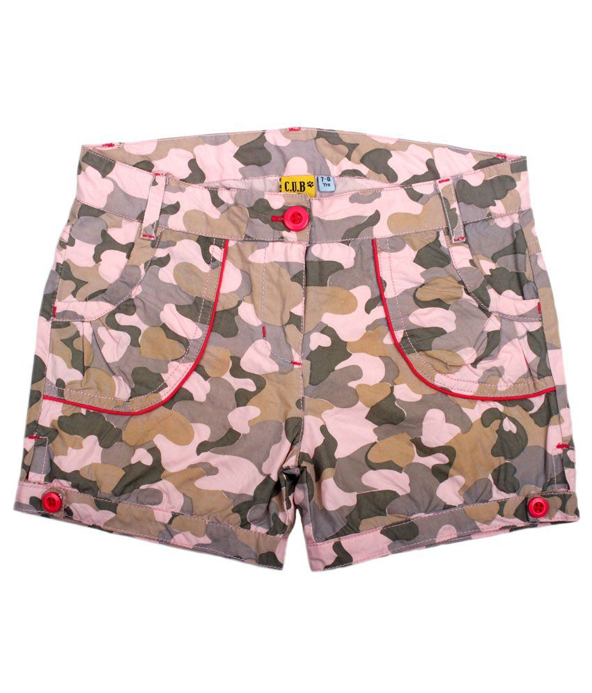 C.U.B Green Shorts For Girls
